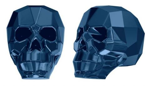 5750 Skull Beads, Metallic Blue 2X (2X: Effect on both sides)